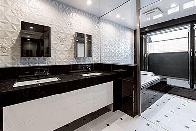 ホテルライクな洗面室