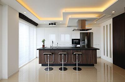 ホテルライクなキッチン