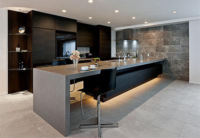 オリジナルデザインのキッチン