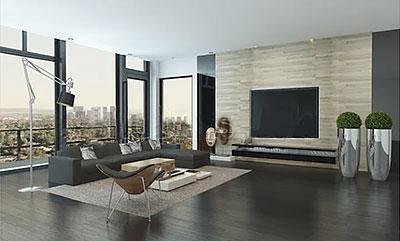 統一されたマンションの部屋